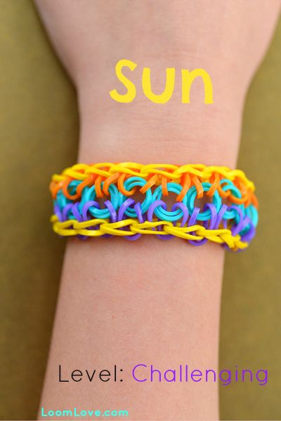 How to Make a Sun Rainbow Loom Bracelet #rainbowloom