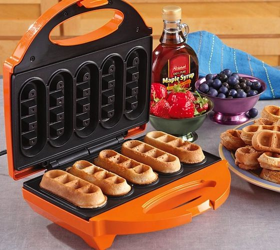 Bake 5 waffles sticks in a matter of minutes. The non-stick coating makes baking these waffle treats quick and easy.