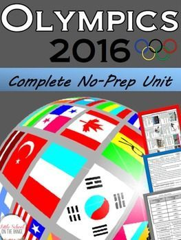 This complete unit contains all that you need to teach your students about the 2016 Olympics!This unit contains:Fact cards about the First Modern Day OlympicsFacts cards about the 2016 OlympicsPocket for Fact Cards (perfect for interactive notebooks)Olympics Then and Now Sort  Comparison ActivityWhere is Rio de Janeiro?