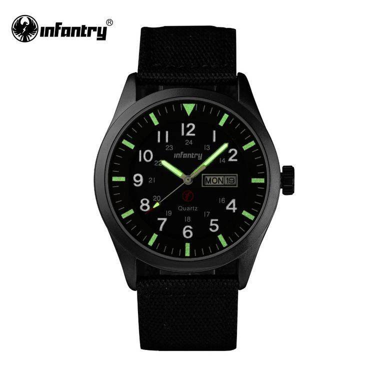 check price infantry mens watches relojes hombre luminous watches 2017 new date day police black g10 #nylon #watch #strap