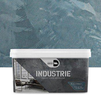 Peinture effet industrie maison deco cobalt 4 kg - Peinture industrie leroy merlin ...