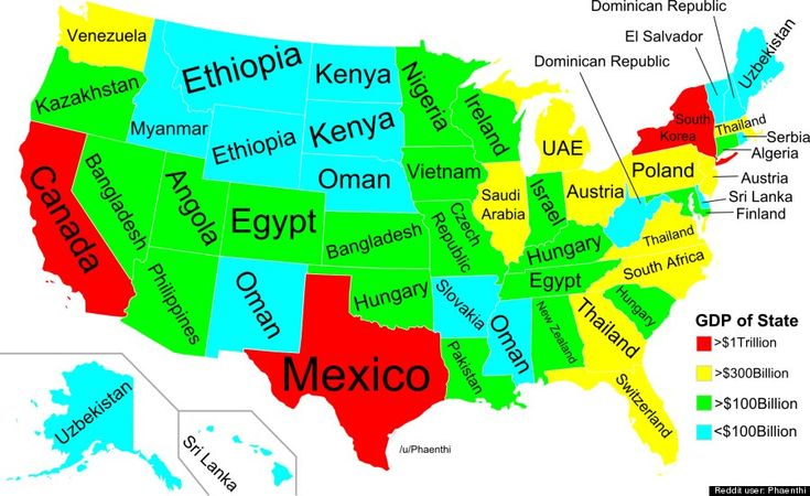 Your States Economy Is As Big As An Entire Countrys - Us economy map