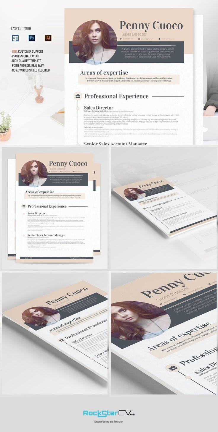 Resume Template Carminia by Resume Templates on @creativemarket
