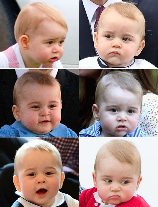 Prince George's MANY Adorable Facial Expressions!