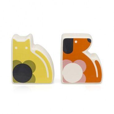 Orla Kiely Salt and Pepper Cat and Dog from www.illustratedliving.co.uk
