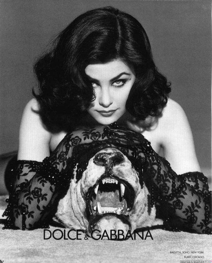 Sherilyn Fenn in Dolce & Gabbana advert. Shot by Steven Meisel, 1991