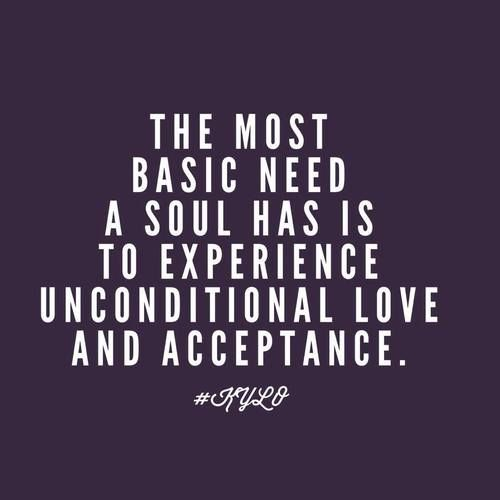 the most basic need a soul has is to experience unconditional love and acceptance - danny lee silk