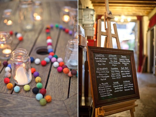 Simple decor. Jars and strings of beads.