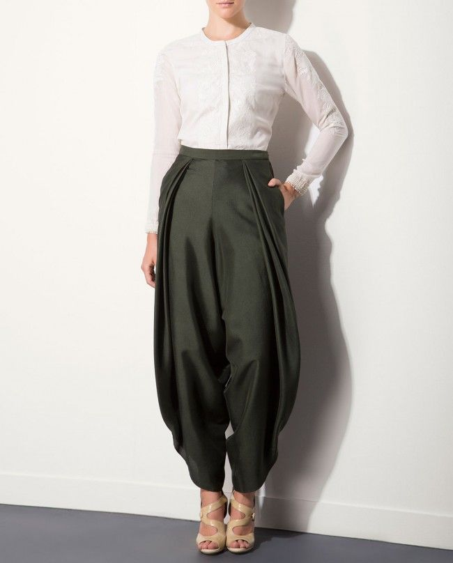 AM:PM | Olive Green Harem Pants