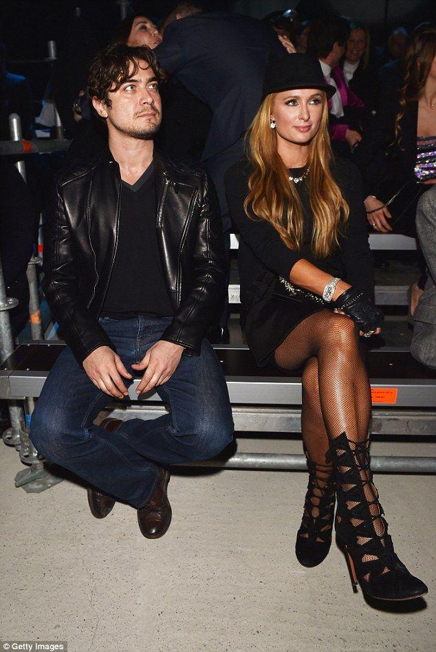 A fancy affair: She was seated next to Italian film actor and producerRiccardo Scamarcio...