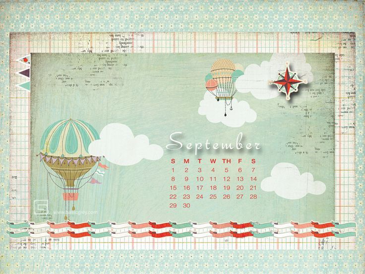 Now Available  September desktop calendar by Mary Rogers