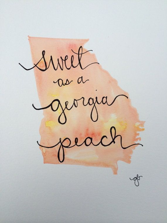 Sweet as a Georgia Peach by ginisis on Etsy
