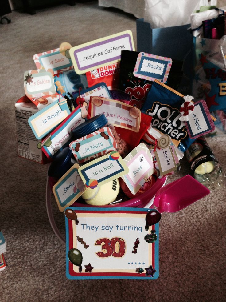 More of the 30th birthday basket