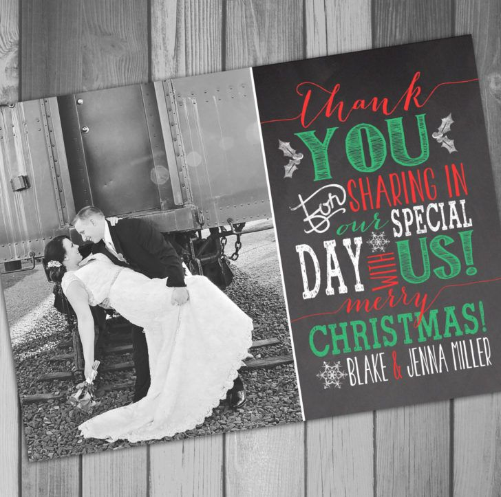 how to write thank you notes for wedding gift cards%0A Admirable Chalkboard and Sweet Photo Wedding Thano You Card Template Red  Green White Text of Fabulous Wedding Thank You Card Design Templates to  Browse and