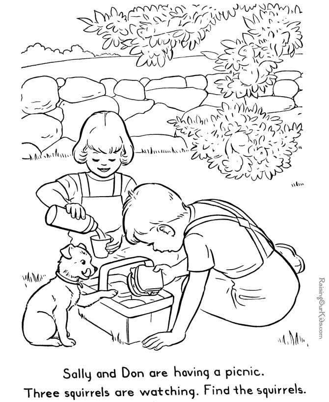 printable hidden coloring pages - photo#17