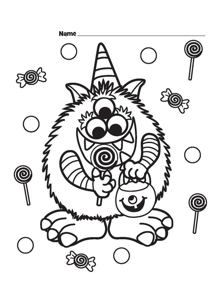 halloween food coloring pages free - photo#10