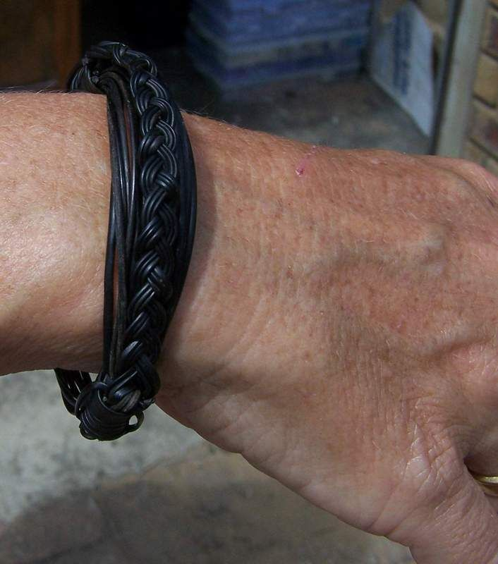 Latest Francis Cary creation -very unique braid on original bracelet. Price $110 incl. ship & ins