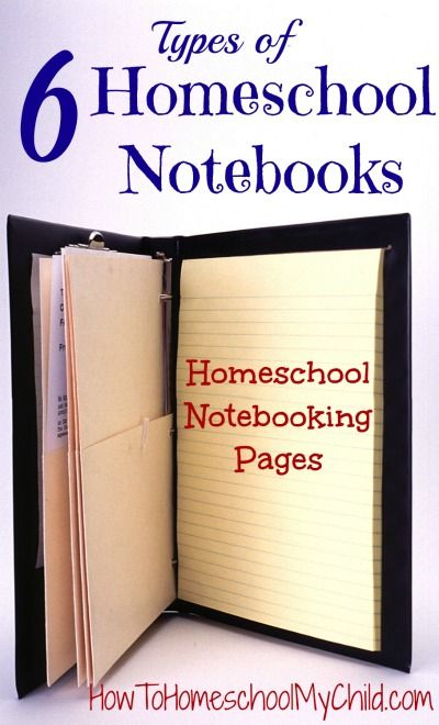 Learn about the types of notebooks you can use in homeschool from HowToHomeschoolMyChild.com