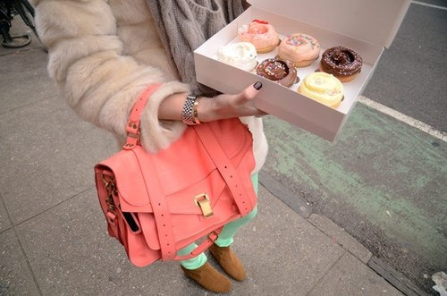 : Pastel, Fashion, Coral, Sweet, Cupcakes, Style, Purse, Color, Bags