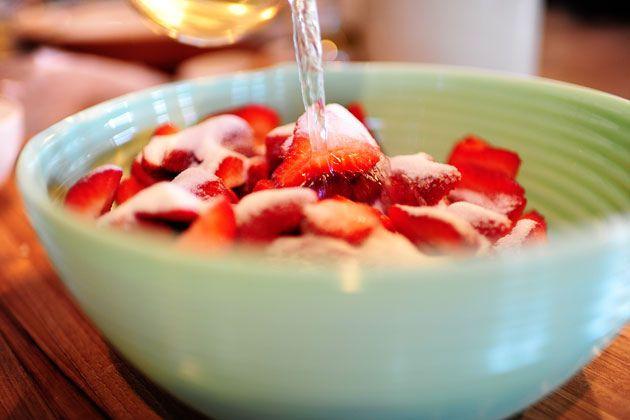 White Wine-Marinated Strawberries