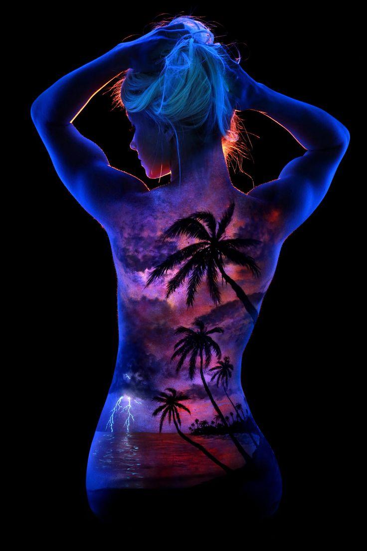 Marleys Tropical Storm By John Poppleton On Px Body Painting - Amazing black light body art photography john poppleton
