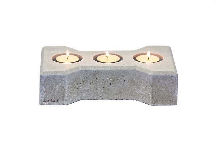 Świecznik bruk DWATE z betonu