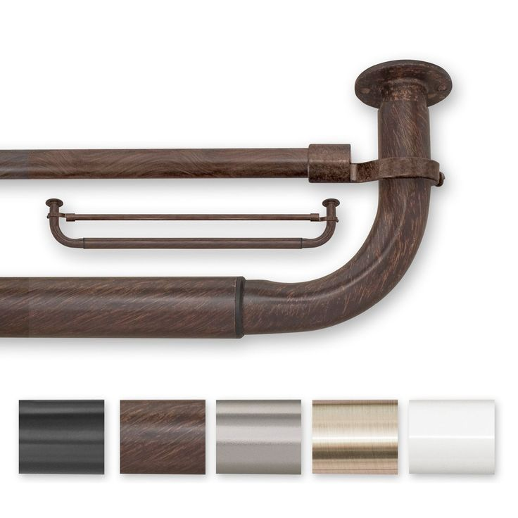 Update your curtain panels with this traditional window hardware. Ideal for complementing traditional decor, this wrap-around hardware features a decorative rod in your choice of color and is super easy to install for long-lasting function.