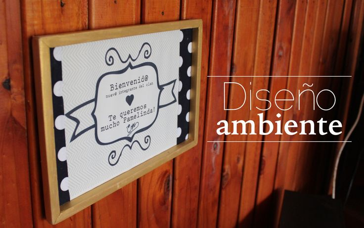 #Party #Baby #frame www.disenoambiente.cl