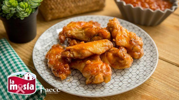 #Alitas de #pollo con #salsa #barbacoa. Ideales para cualquier plan de barbacoa o para disfrutarlas en casa. El paso a paso, en nuestro blog.
