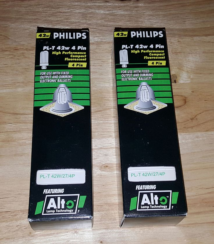 LOT OF 2 NEW PHILLIPS PL-T 42W/27/4P ALTO COMPACT FLUORESCENT BULBS TRIPLE TUBE #Philips