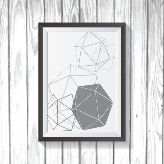 20 Sided Dice Poster by MonkeyMomPrints on Etsy