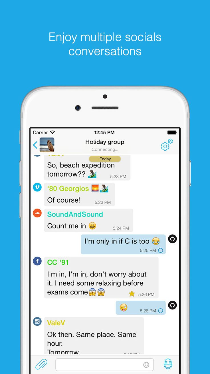 Enjoy group chats with your friends from different social networks