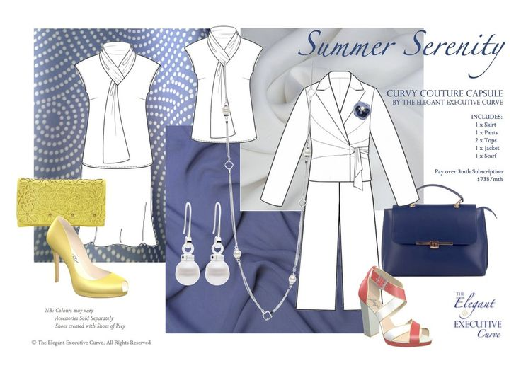 INSPIRING THE ASPIRING-MINI: 6 Piece, Easy Care & Wear, Made-to-Measure✂️ Mix-n-Match, Capsule Wardrobe - Summer Serenity