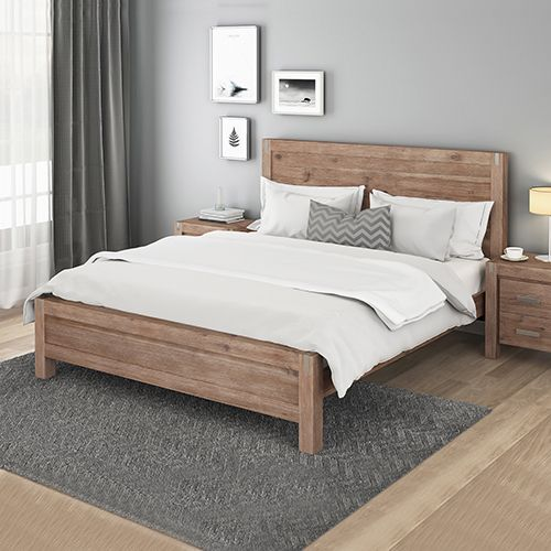 Nowra Oak Bed with Strong Legs