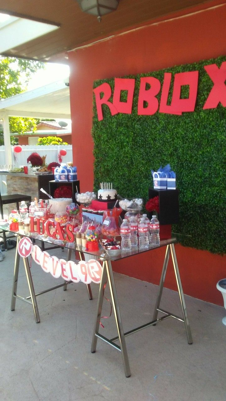 Roblox Themed Party Supplies Roblox Party Invitation Roblox