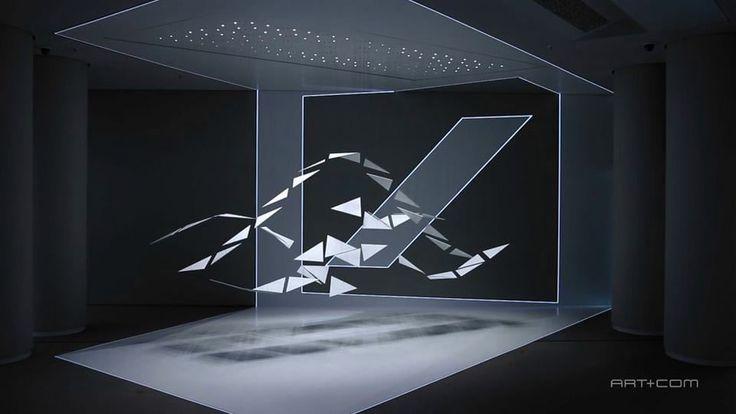 Kinetic Logo at Deutsche Bank BrandSpace Frankfurt on Vimeo