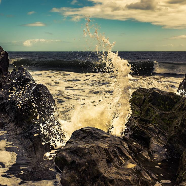 Down by the sea. #sea #wave #rocks #seaside #Courtown #Wexford #Ireland #photography