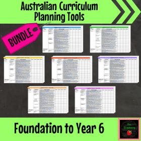 Home :: Grade / Year Level :: Primary Education :: Year 6 :: Australian Curriculum Planning Tool Bundle