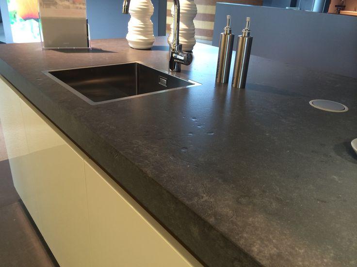 Betonlook vulcano dekker composiet keuken blad