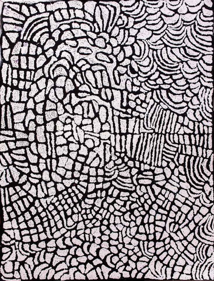 Nyurapayia Nampitjinpa (Mrs Bennett) - Sans Titre - 120 x 90 cm http://www.aboriginalsignature.com/art-aborigene-papunya-tula/nyurapayia-nampitjinpa-mrs-bennett-sans-titre-120-x-90-cm