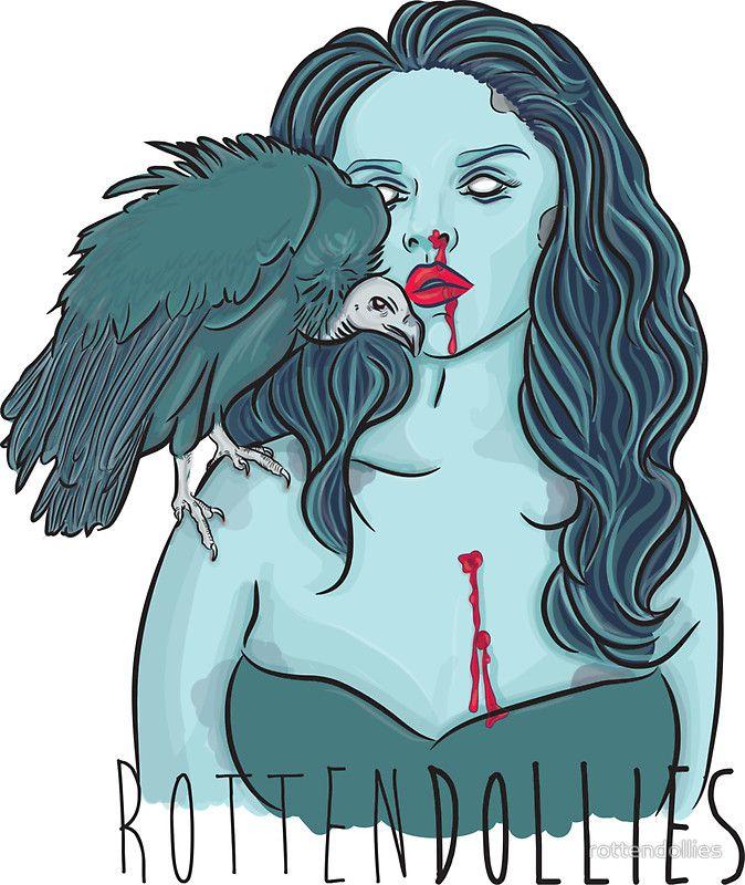 Rotten Dollies - Vulture Sticker