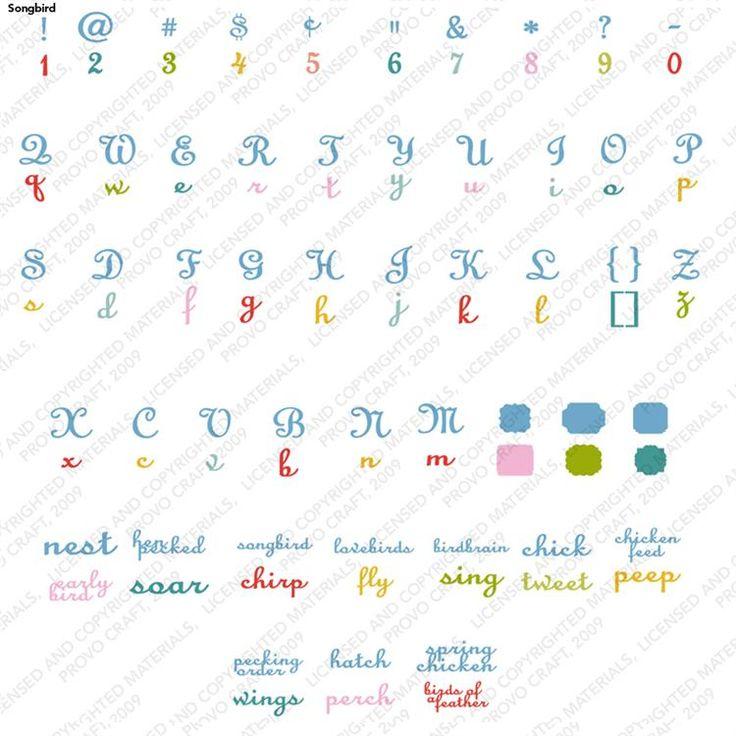 Expression Of Words Written In Ink: Cricut® Songbird Cartridge - Cricut Shop
