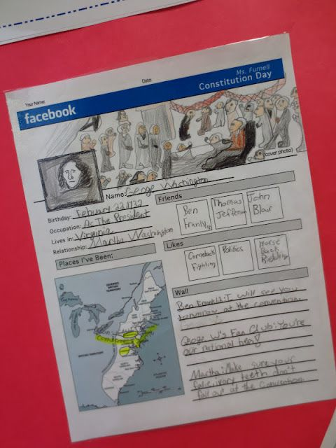 Great social studies lesson about founding fathers...could do this with authors or story characters too!