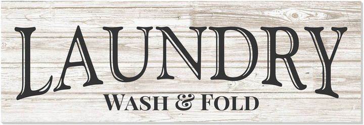 Etsy Laundry Wash and Fold Rustic Wood Wall Sign 6x18 #affiliate