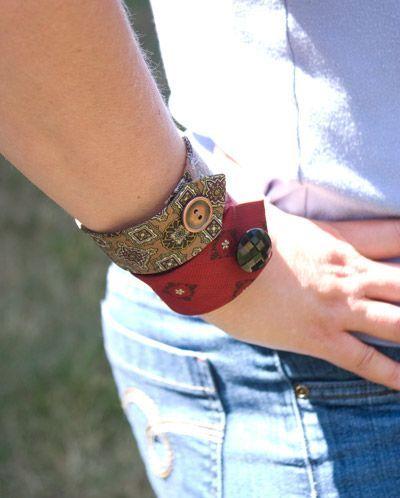 neck tie bracelets
