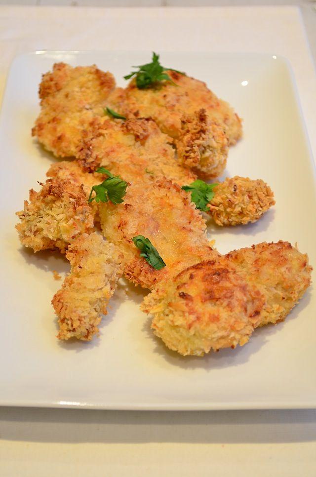 Zelf kipnuggets maken (met rijstbloem ipv 'gewone' bloem) in de oven