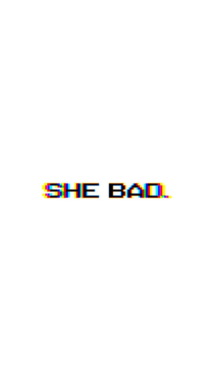Shebad Background Black White Blackandwhite Cardib Sassy Wallpaper White Background Quotes Edgy Wallpaper