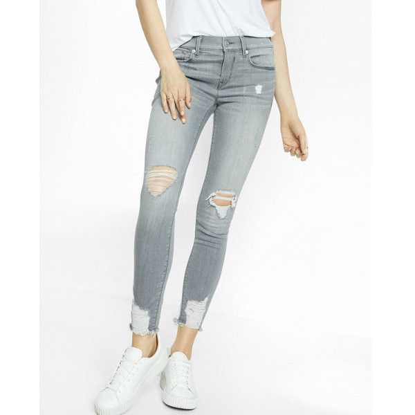 25  best ideas about Grey ripped jeans on Pinterest | Summer ...