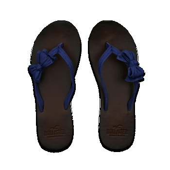 Hollister flip flops with bows, love the bows