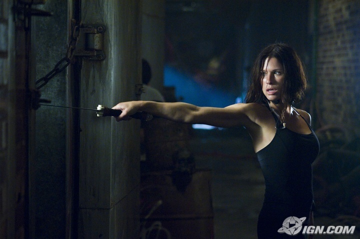 Rhona Mitra in Doomsday - her arms look amazing